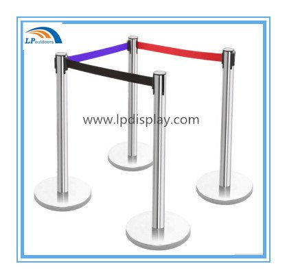 Colorido Nlyon Belt Retractable Stanchion Queue Stand Barrera